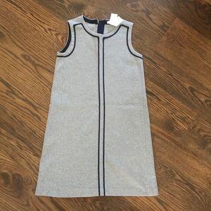 Crewcuts Girls size 14 Grey dress w/ Navy accent